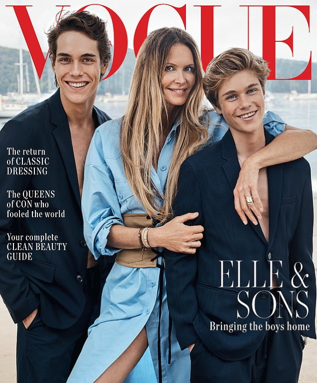 Vogue Australia August 2019 : Elle Macpherson & Sons by Nicole Bentley