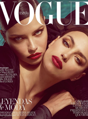 Vogue España August 2019 : Adriana Lima & Irina Shayk by Luigi & Iango