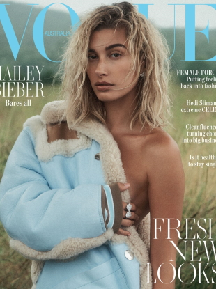 Vogue Australia October 2019 : Hailey Bieber by Lachlan Bailey