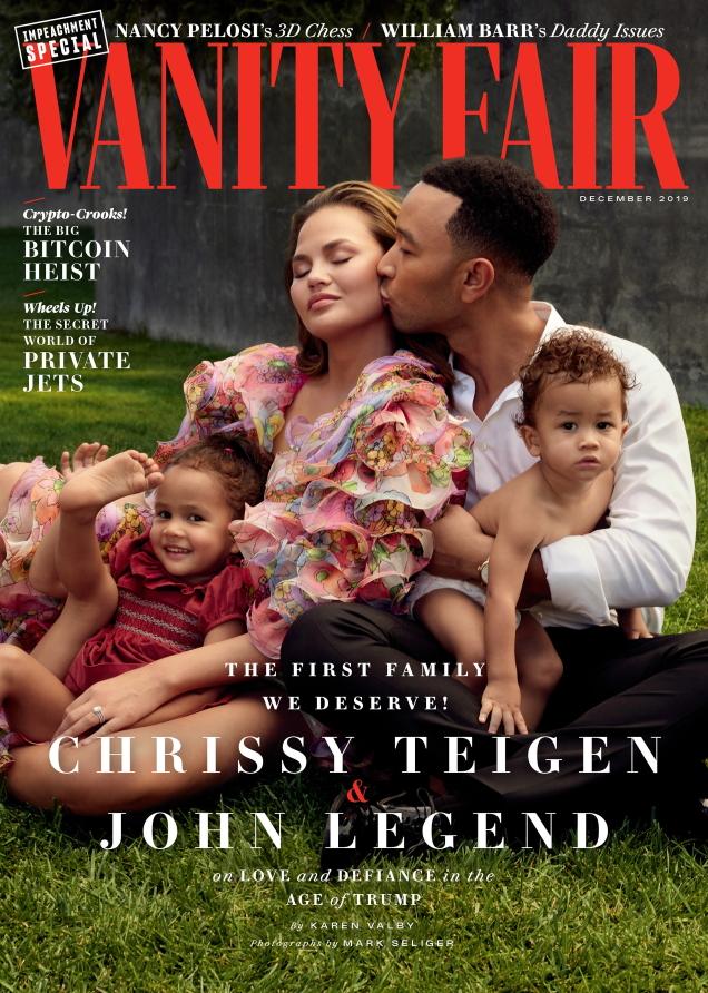 Vanity Fair December 2019 : Chrissy Teigen & John Legend by Mark Seliger