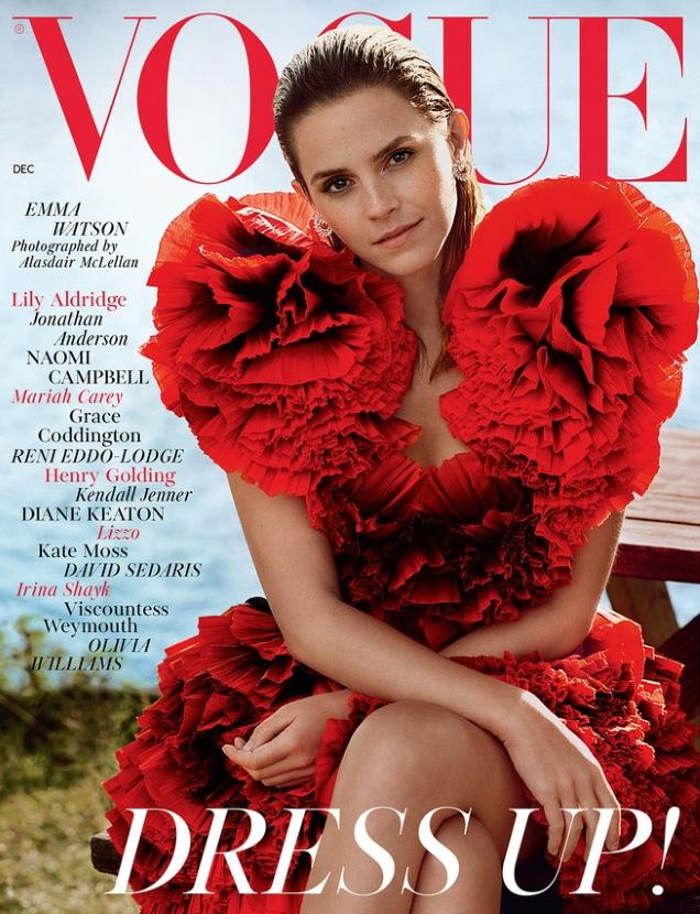 UK Vogue December 2019 : Emma Watson by Alasdair McLellan