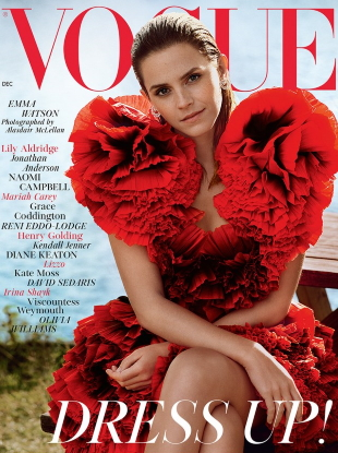UK Vogue December 2019 : Emma Watson by Alasdair McLellan