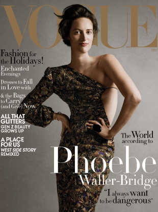 US Vogue December 2019 : Phoebe Waller-Bridge by Ethan James Green
