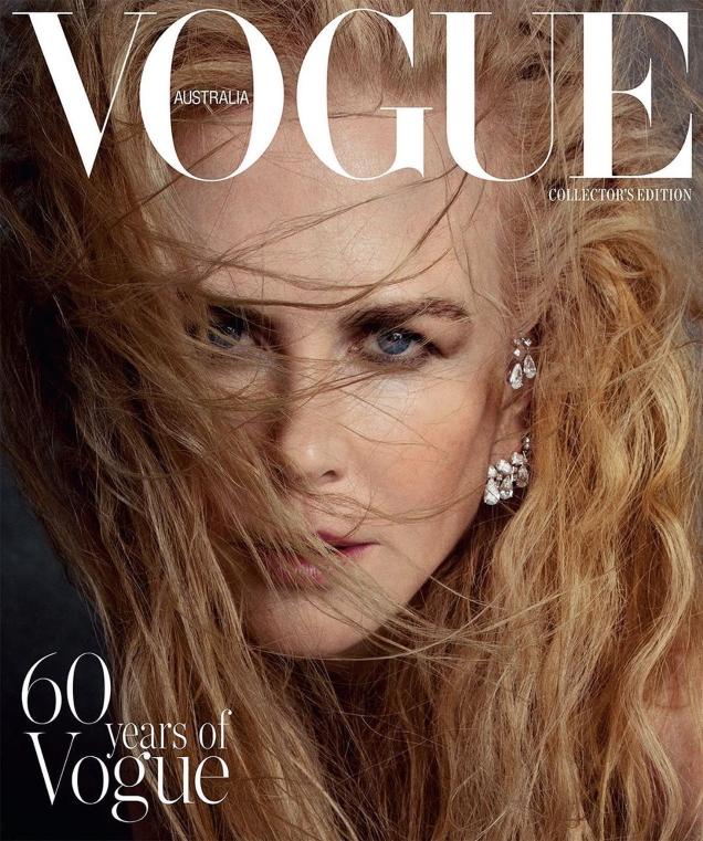 Vogue Australia December 2019 : Nicole Kidman by Inez van Lamsweerde & Vinoodh Matadin