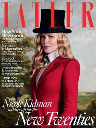 Tatler January 2020 : Nicole Kidman by Jack Waterlot
