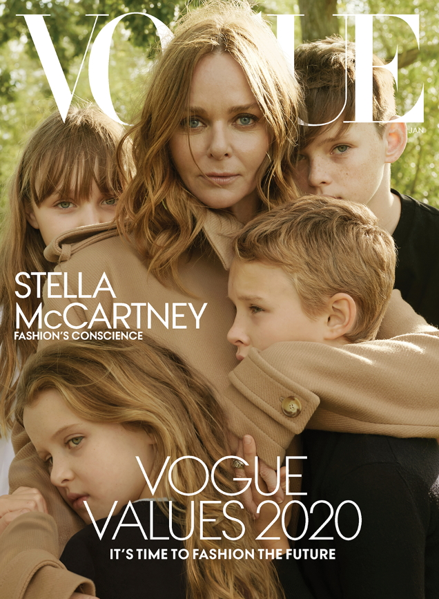 US Vogue January 2020 : Stella McCartney & Family by Annie Leibovitz