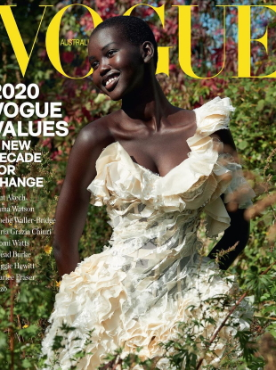 Vogue Australia January 2020 : Adut Akech by Nathaniel Goldberg