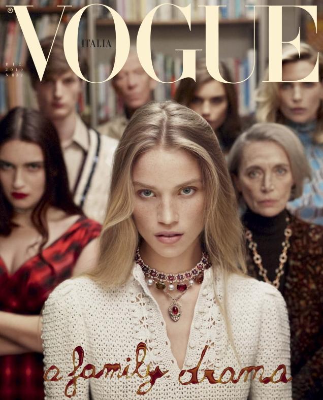 Vogue Italia December 2019 : Rebecca Longendyke by Mert Alas & Marcus Piggott