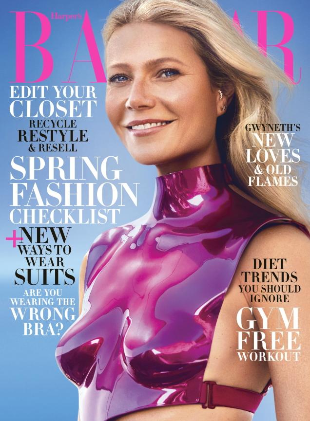 US Harper's Bazaar February 2020 : Gwyneth Paltrow by Zoey Grossman