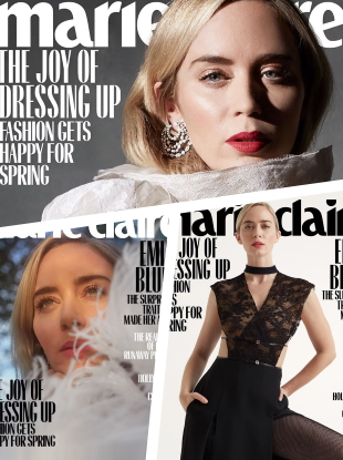 US Marie Claire March 2020 : Emily Blunt by Denise Hewitt, Lucci Mia & Genesis Gil