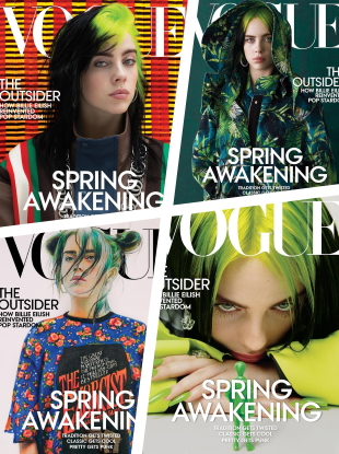 US Vogue March 2020 : Billie Eilish by Hassan Hajjaj, Ethan James Green, Harley Weir & Nastya Kovtun