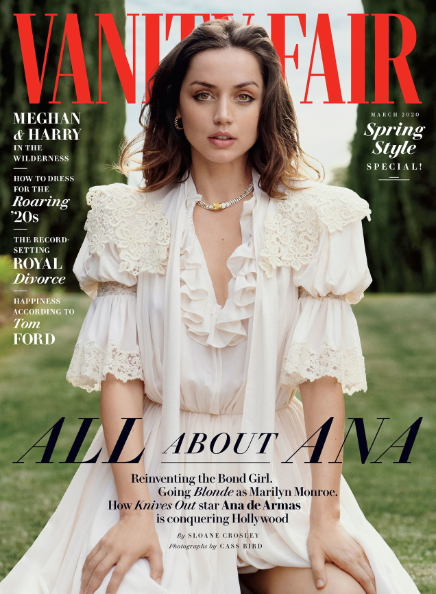 Vanity Fair March 2020 : Ana de Armas by Cass Bird
