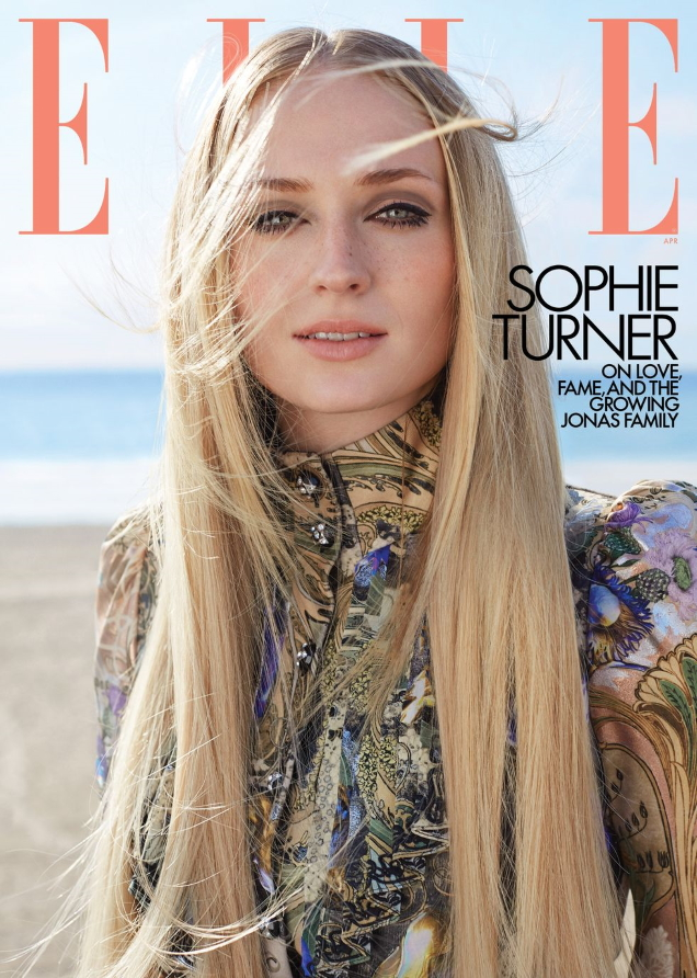 US Elle April 2020 : Sophie Turner by Arthur Elgort