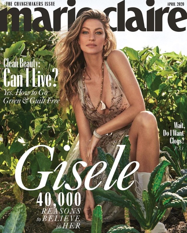 US Marie Claire April 2020: Gisele Bündchen by Nino Munoz