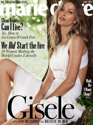 US Marie Claire April 2020 : Gisele Bündchen by Nino Munoz