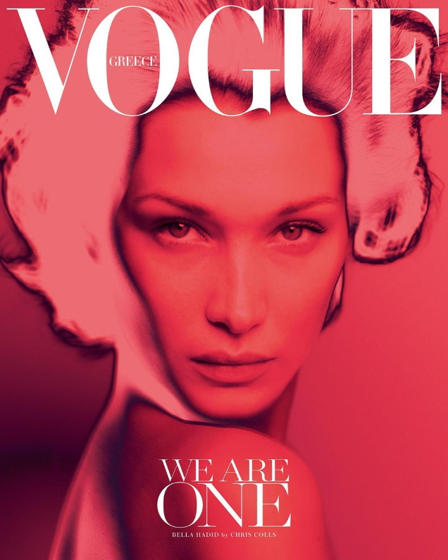 Vogue Greece April 2020 : Bella Hadid by Chris Colls