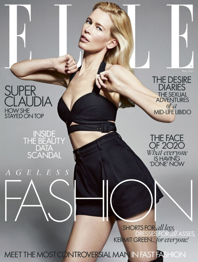 Claudia Schiffer Simply Stuns on British ELLE's May 2020 Cover