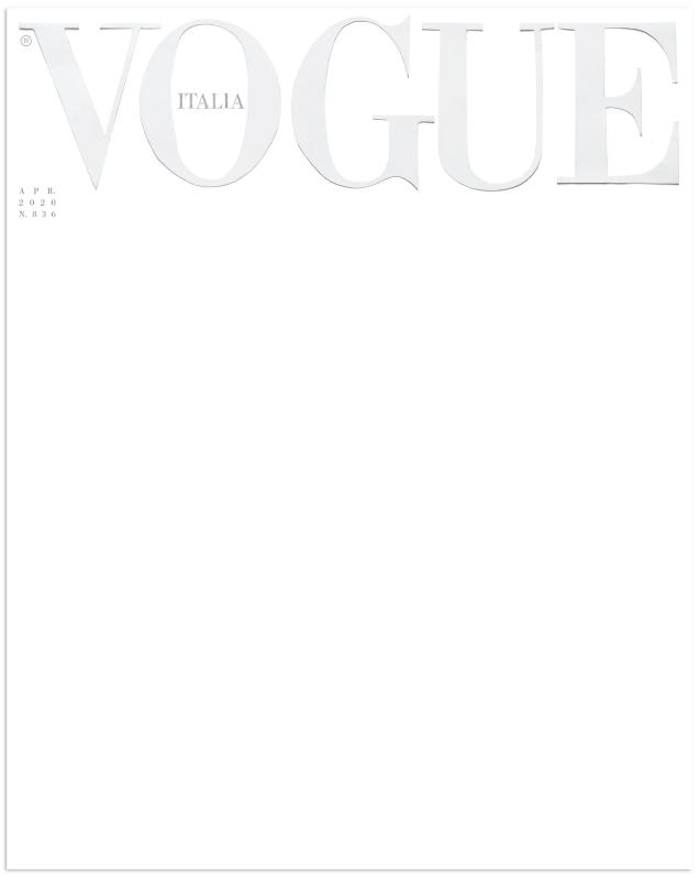 Vogue Italia April 2020 : A Blank Canvas by Ferdinando Verderi