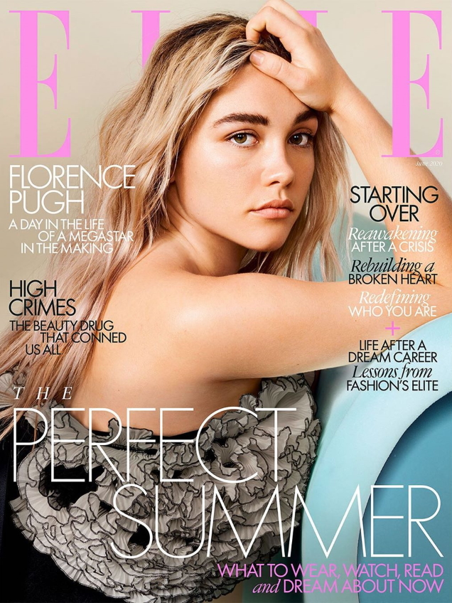 UK Elle June 2020 : Florence Pugh by Liz Collins