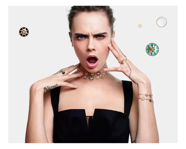 Christian Dior Joaillerie 2020 : Cara Delevingne by Mario Sorrenti