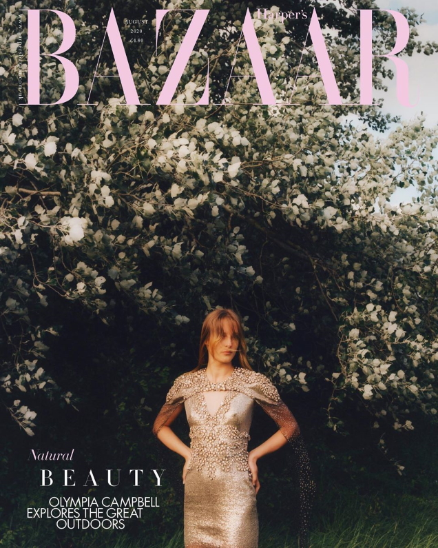 UK Harper's Bazaar August 2020 : Olympia Campbell by Jesse Jenkins