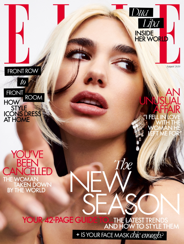 UK Elle August 2020 : Dua Lipa by Zoey Grossman