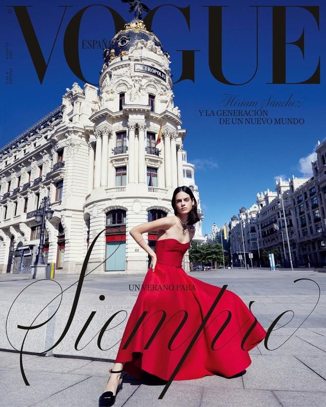 Vogue España August 2020 : Miriam Sánchez by Miguel Reveriego