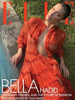 US Elle August 2020 : Bella Hadid by Gigi Hadid