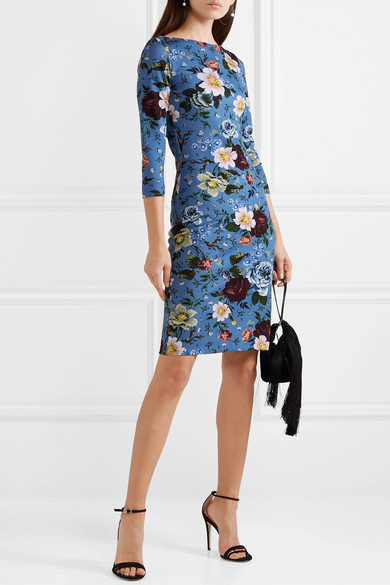 Erdem  10 Versatile Dresses That Will Take You From Work to Play Erdem Reese Floral Print Stretch Jersey Mini Dress
