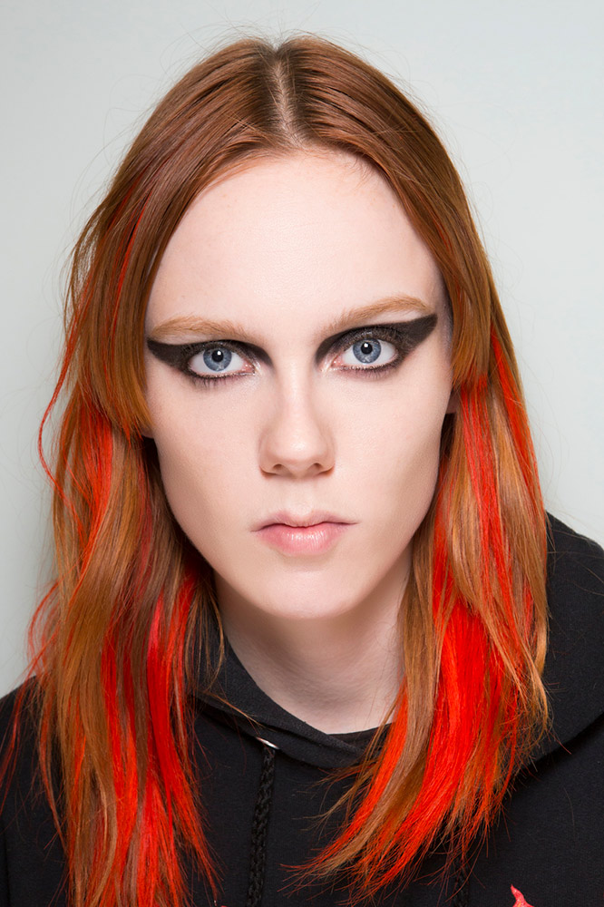 Ginger Hair With Crimson Lowlights