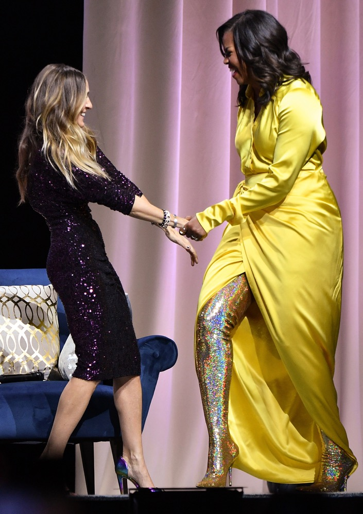 Michelle Obama and Her Sparkly Balenciaga Boots