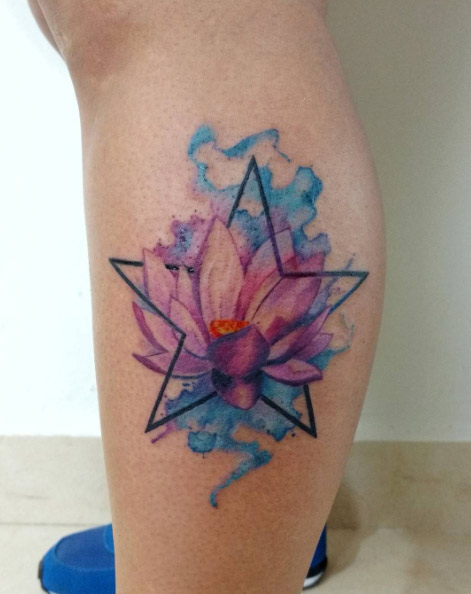 91c60ab3c05e1 41 Watercolor Tattoos That Are a Work of Art - theFashionSpot
