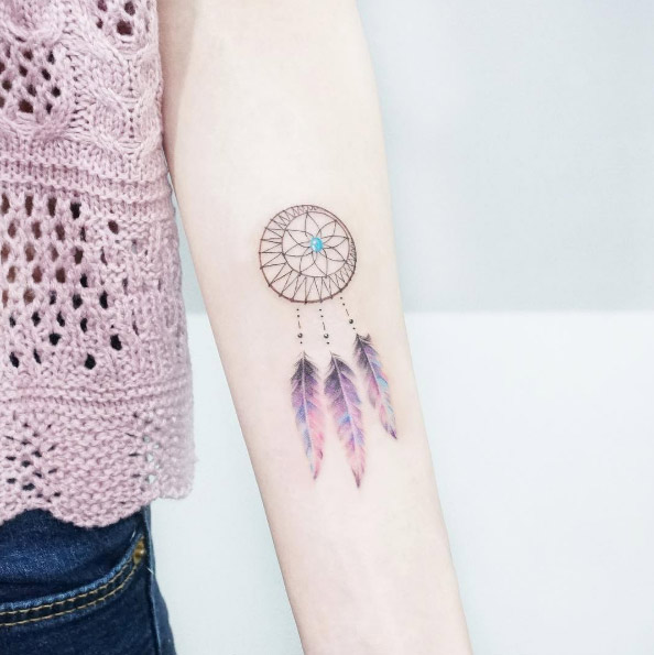 f77ba09ec 41 Watercolor Tattoos That Are a Work of Art - theFashionSpot