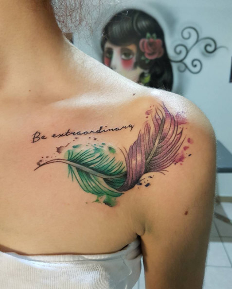41 Watercolor Tattoos That Are A Work Of Art Thefashionspot