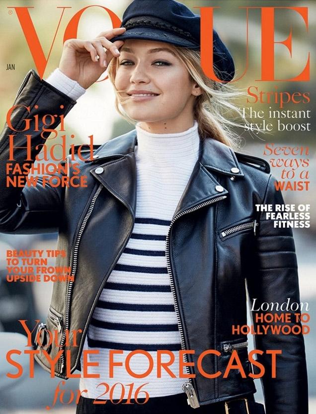 d2c3be931398 Vogue UK January 2016  Gigi Hadid by Patrick Demarchelier