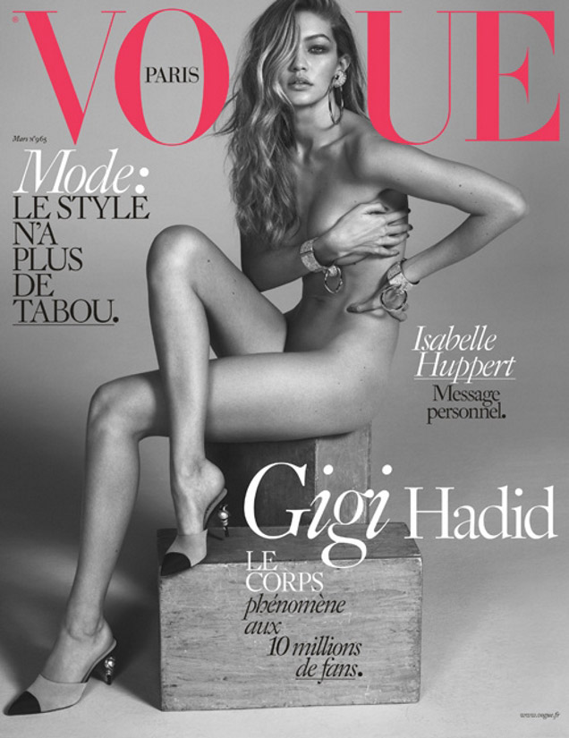Vogue Paris March 2016: Gigi Hadid by Mert Alas and Marcus Piggott