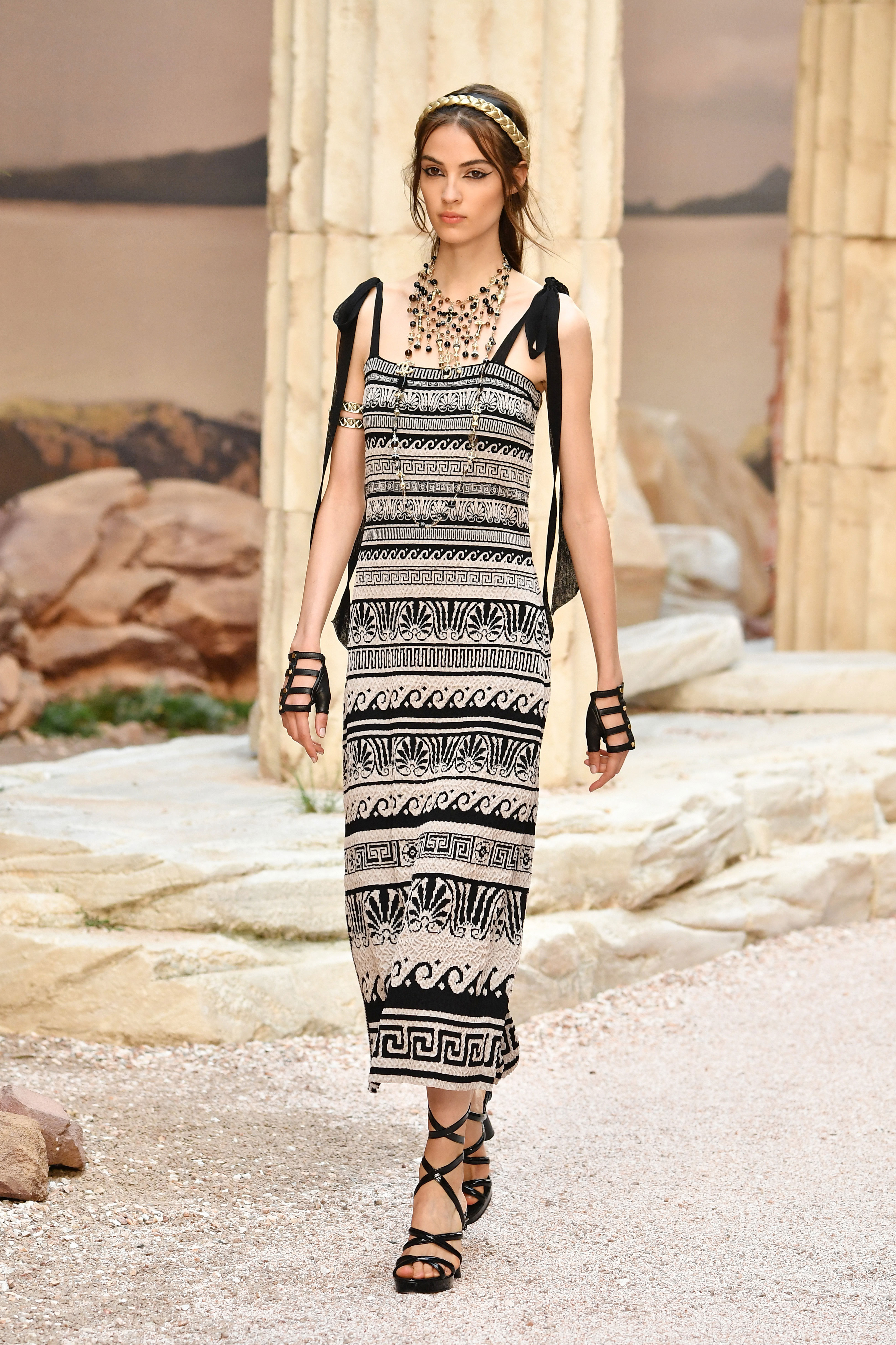 93caa323d3fd The Chanel Cruise 2018 Show Transformed Paris Into Ancient Greece ...