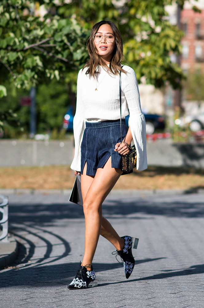 ae64a25183 How to Wear Jean Shorts in the Fall Without Freezing Your Butt Off ...