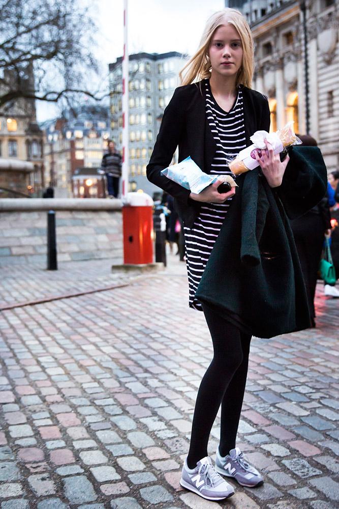 Fashion london week fall models off duty