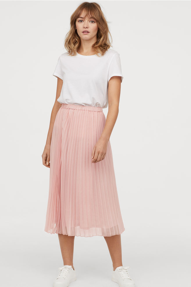 H&M  27 Midi Skirts You Need in Your Closet ASAP HM Pleated Skirt