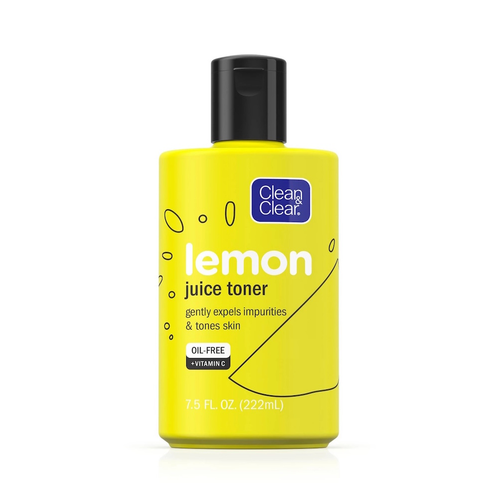 Clean & Clear  13 Game-Changing Modern Toners That Won't Dry Out Skin clean clear alcohol free lemon juice facial toner