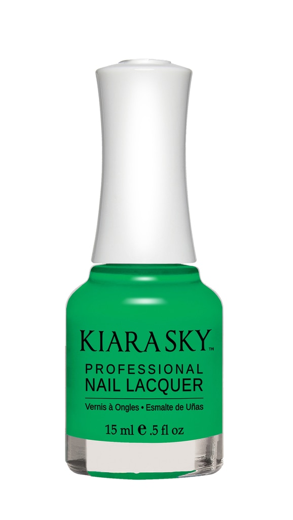 Kiara Sky  The Summer-Ready Neon Nail Polish Shades to Replace Your Overrated Reds kiara sky green envy 0