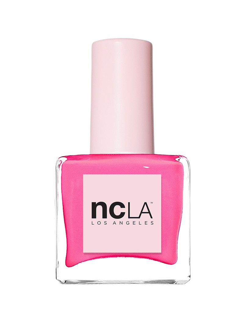 NCLA Beauty  The Summer-Ready Neon Nail Polish Shades to Replace Your Overrated Reds ncla bubblegum pink