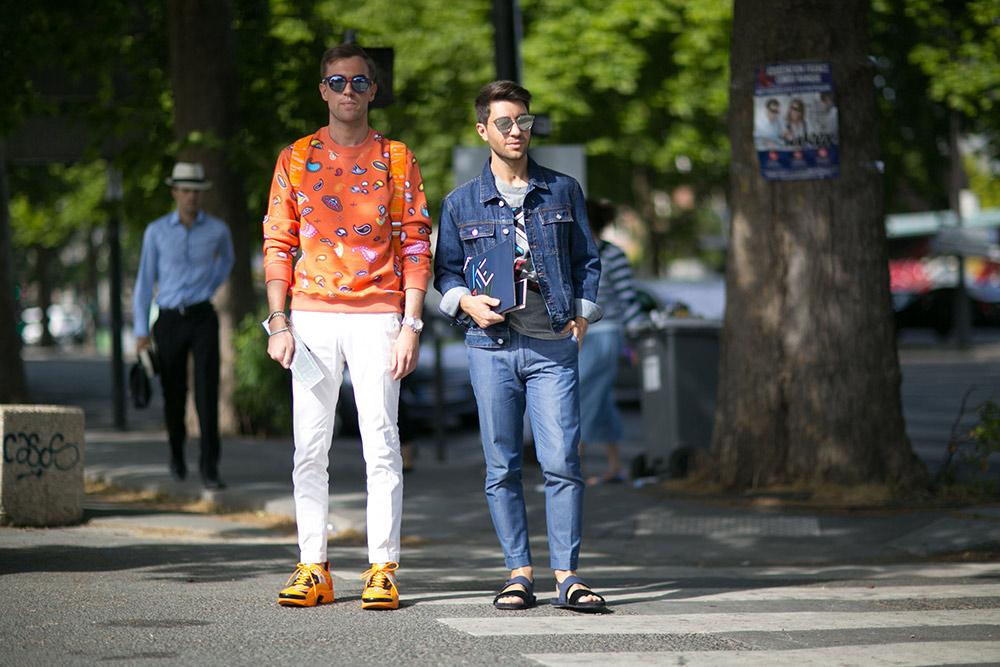 2cb10229f2588 Street Style  Paris Men s Fashion Week Spring 2016 - theFashionSpot