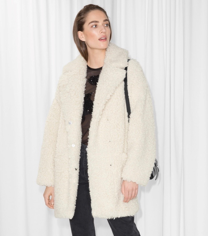 96b90df9 Faux Fur Teddy Jackets Are Fall's Most Snuggly Trend - theFashionSpot