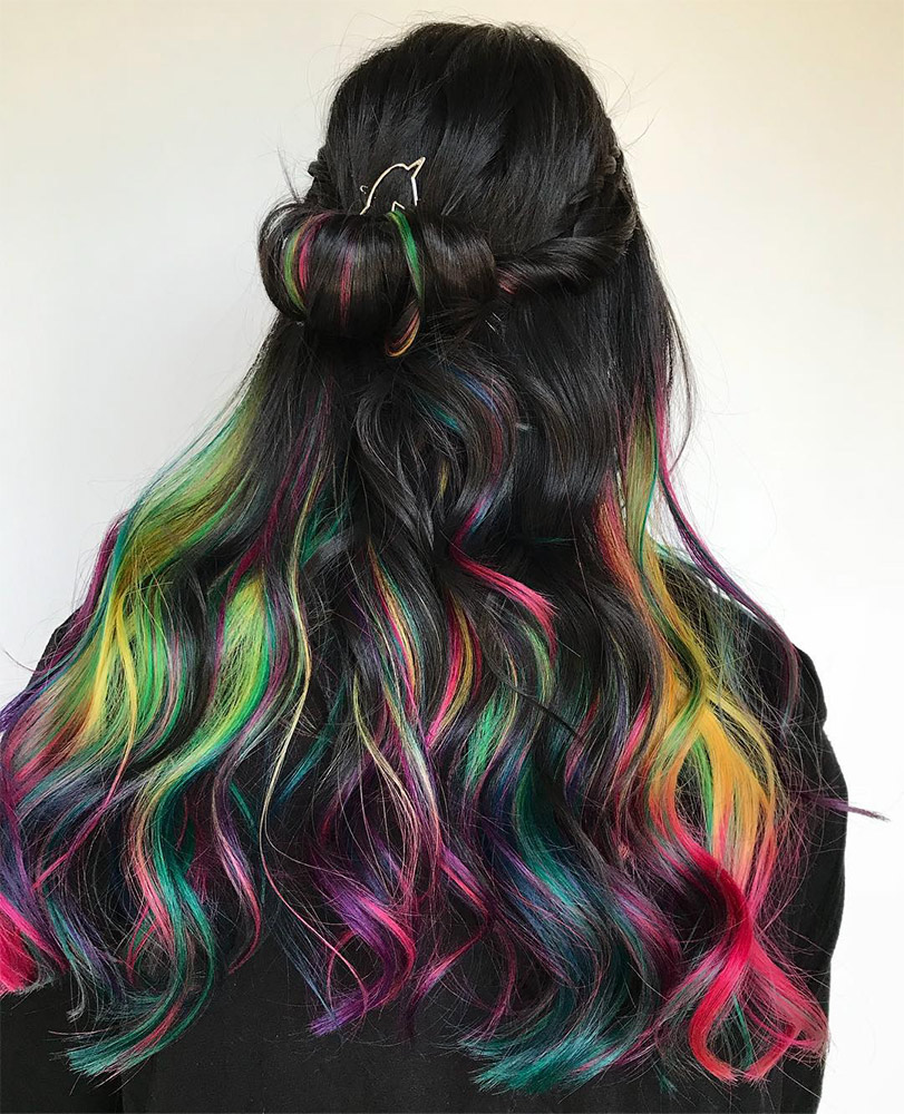 Dip Dye Hair Color All The Fun With Half The Risk Thefashionspot