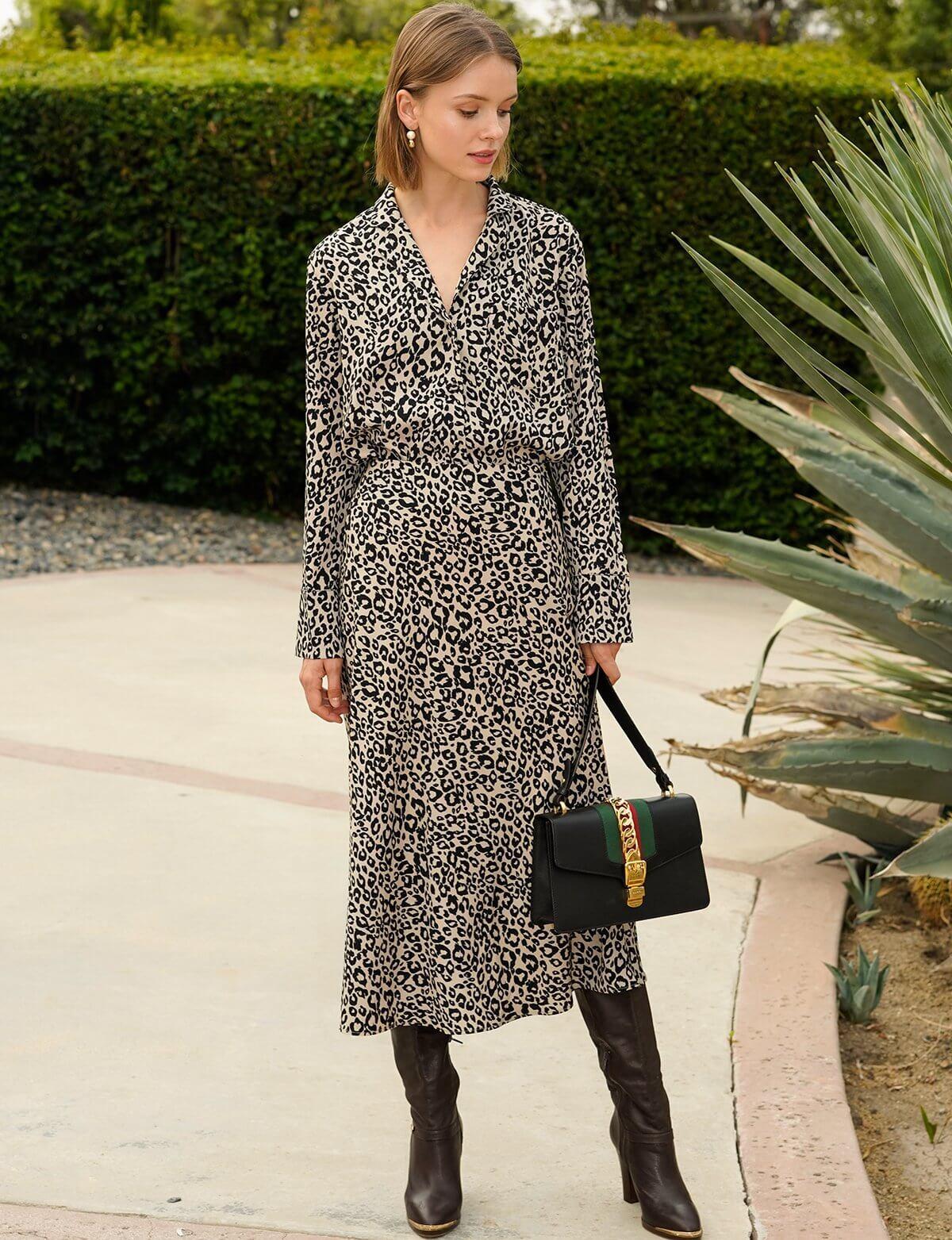 A Leopard Print Skirt
